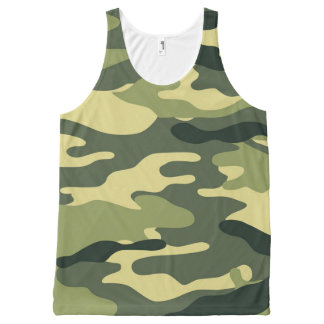 Green Camo tank top, camouflage shirt