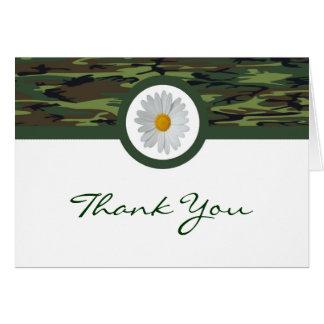 Green Camo Thank You Card