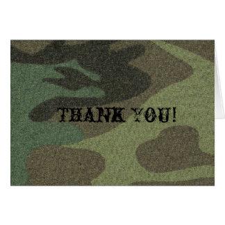 """Green Camo - """"Thank You"""" card"""