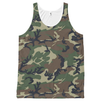 Green Camouflage All-Over-Print Tank Top