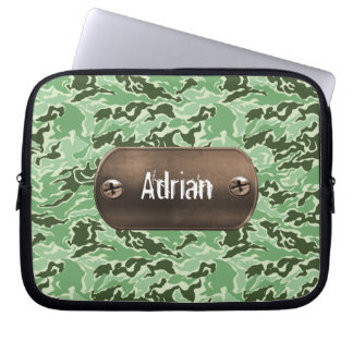 green camouflage army laptop computer sleeves