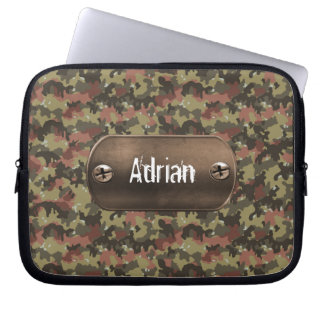 green camouflage army laptop sleeves