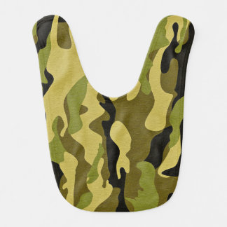 Green camouflage army texture bib