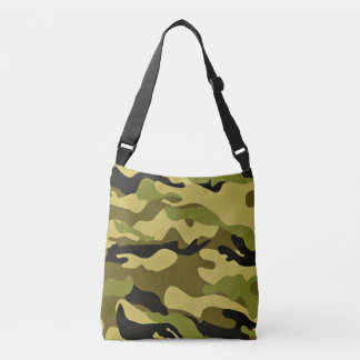 Green camouflage army texture crossbody bag