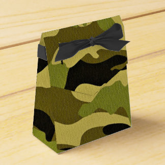 Green camouflage army texture favor box