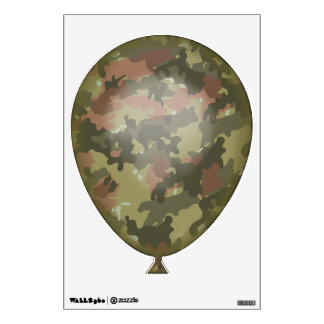 Green Camouflage   Balloon Wall Decal