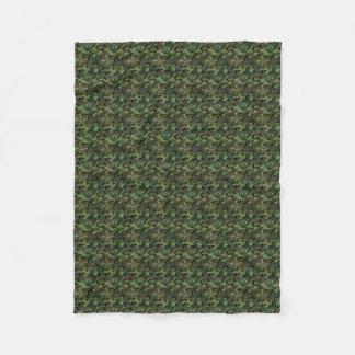 Green Camouflage Camo Pattern Fleece Blanket
