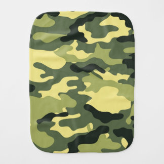Green Camouflage Camo texture Burp Cloth