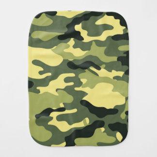 Green Camouflage Camo texture Burp Cloths