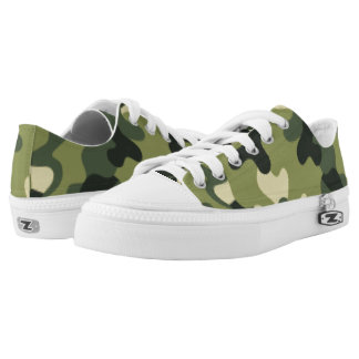 Green Camouflage. Camo your Low-Top Sneakers