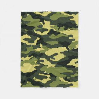 Green Camouflage Fleece Blanket