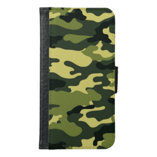 Green camouflage Galaxy S6 Wallet Case