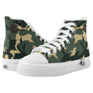 Green Camouflage... High Tops