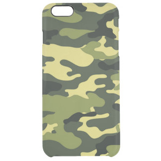 Green camouflage iPhone 6 Plus Deflector Case