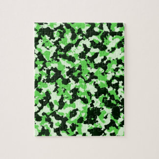 Green Camouflage Jigsaw Puzzle