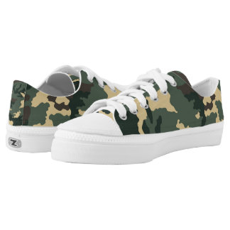 Green Camouflage... Low-Top Sneakers