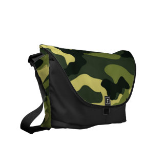 Green camouflage | Messenger Bag