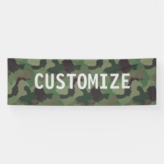 Green Camouflage Military USA Service Party Banner