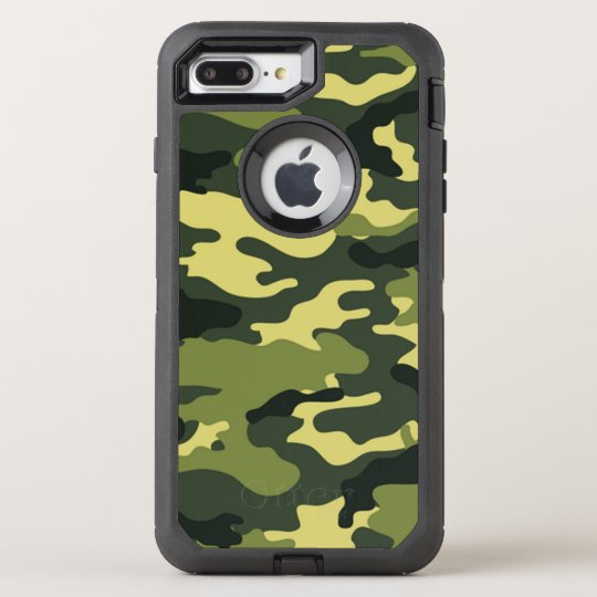 pretty nice 8617b b2bf3 Green Camouflage OtterBox iPhone 7 Plus Case