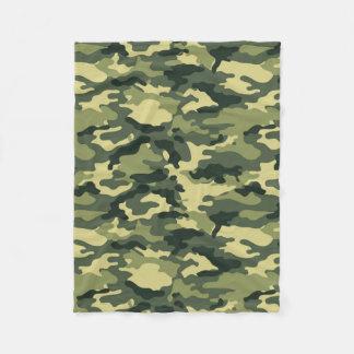 Green Camouflage Pattern Fleece Blanket