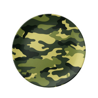 Green Camouflage Plate