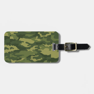Green Camouflage Print Tag For Luggage