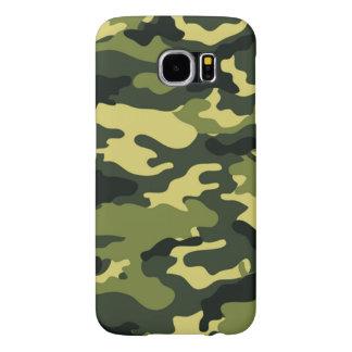 Green camouflage Samsung Galaxy S6 Case