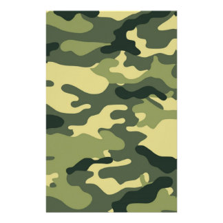 Green Camouflage Scrapbook Crafting Paper