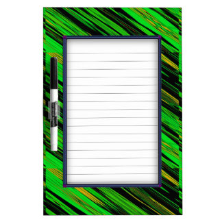 Green Candy Stripe Dry Erase Board