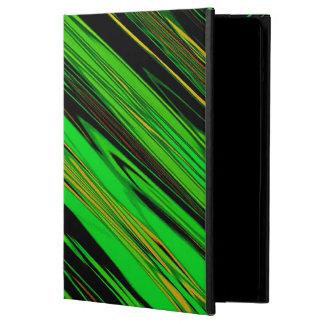 Green Candy Stripe iPad Air Cover