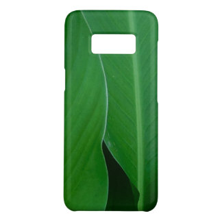 Green canna lily leaves photo Case-Mate samsung galaxy s8 case