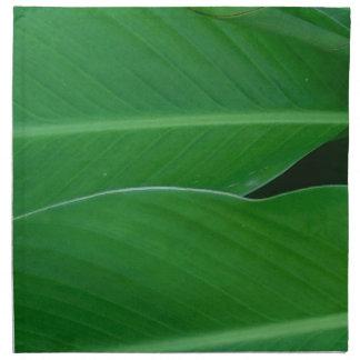 Green canna lily leaves photo napkin