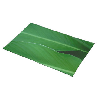 Green canna lily leaves photo placemat