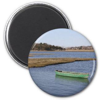 Green Canoe Magnet
