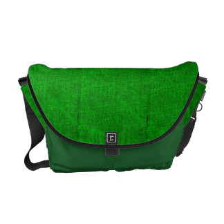 Green Canvas Texture Messenger Bag