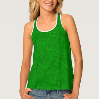 Green Canvas Texture Tank Top
