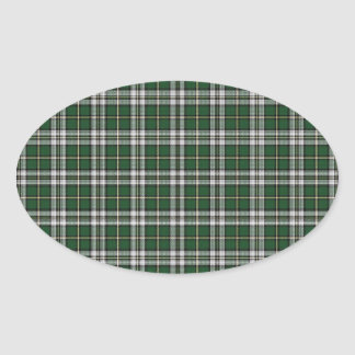 Green cape Breton tartan Oval Sticker