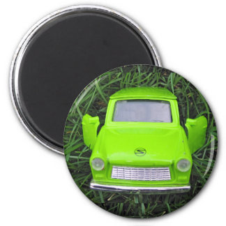 Green Car Magnet