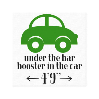Green Car Wrapped Canvas Sign