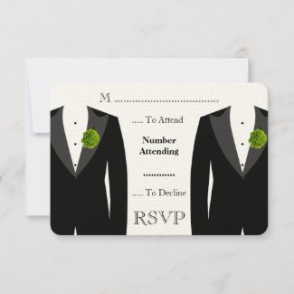 Green Carnation RSVP for a Gay Wedding