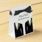 Green Carnations Favour Box for a Gay Wedding