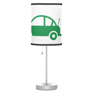 green cars table lamp