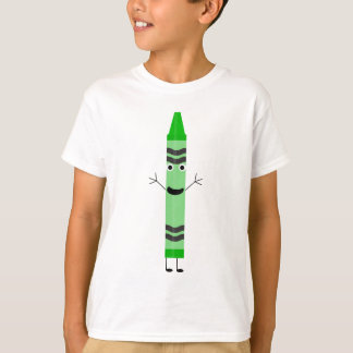 Green Cartoon Crayon T-Shirt