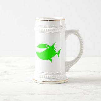 Green Cartoon Fish Beer Stein