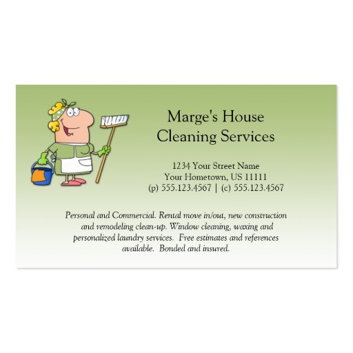 ... Cleaning Customer Loyalty Pack Of Standard Business Cards : Zazzle