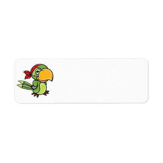Green Cartoon Pirate Parrot