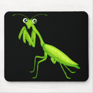 Green Cartoon Praying Mantis Mousepad