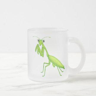 Green Cartoon Praying Mantis Mugs and Drinkware