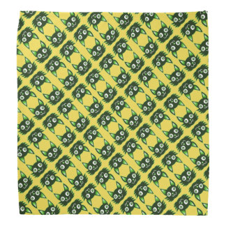 green cat cartoon style vector illustration bandana