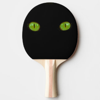 Green Cat Eyes - Ping Pong Paddle